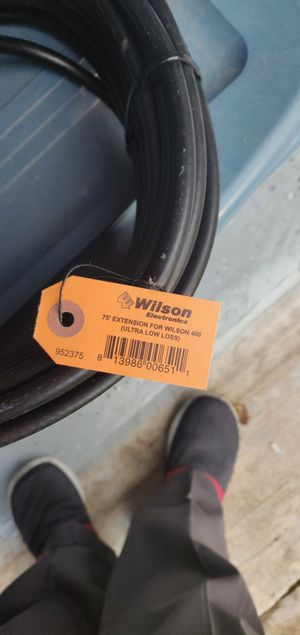 Wilson Electronics 75 ft. Black WILSON-400 Ultra Low Loss Coax Cable (N-Male to NMale) for Sale, used for sale  Spring, TX