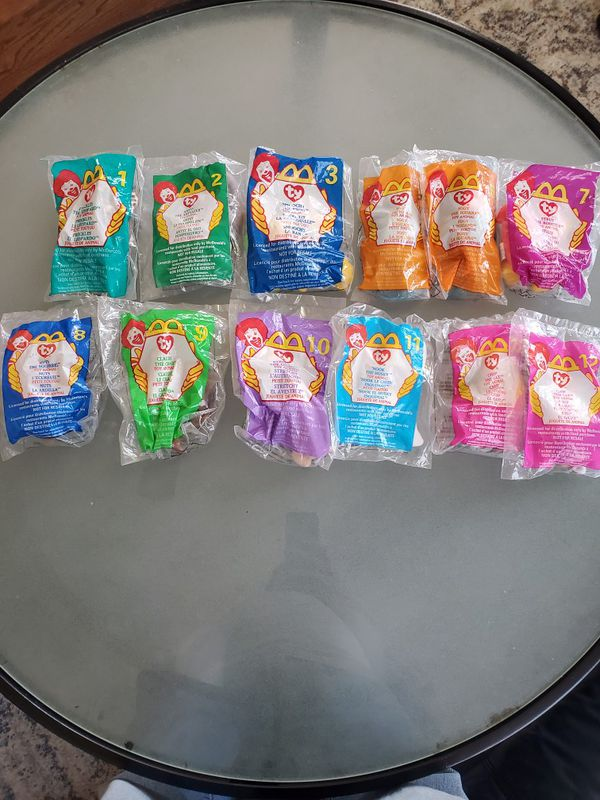 12 McDonald's beanie babies. New
