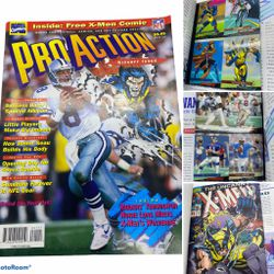 Marvel NFL Pro Action #1 Magazine VF W/ Comic & Cards - X-men - Trading Cards for Sale in Egg Harbor Township,  NJ