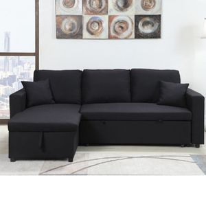 Reversible Sectional Sofa Pull Out Bed With Storage Chaise for Sale in Bell, CA