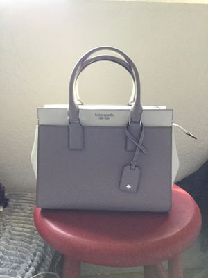 Kate Spade Cameron Medium Satchel (Grey and White) for Sale in Turlock, CA
