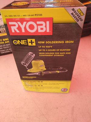 Ryobi 40 Watts soldering iron 18 volts for Sale in Phoenix, AZ