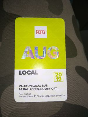 Bus Pass For Augest for Sale in Denver, CO