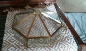 Antique Beveled Glass & Brass Shade for Sale in San Bruno, CA