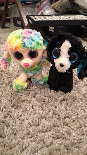 2 glitter eyes plushies for Sale in El Cajon, CA