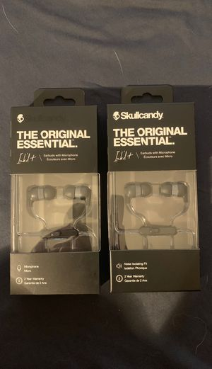Skullcandy The Original Essential Ink'dt earbuds with microphone! Brand new unopened! Asking $10 for both! Hey for Sale in Lakeside, CA