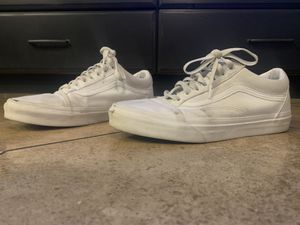 Dirty Stylish White Old Skool Vans for Sale in Gilbert, AZ