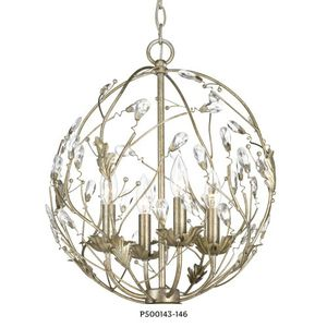 Progress Lighting Sorpresa Collection 4-Light Gilded Pewter Pendant with Crystal Glass Accents for Sale in Dallas, TX