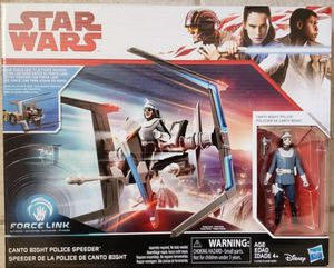 New Star Wars Canto Bight Police Speeder with Action Figure for Sale in Apopka, FL