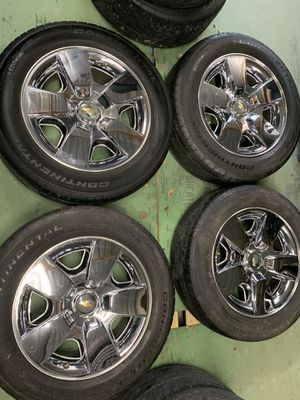Chevy factory wheels and tires 20 inch for Sale in Mesquite, TX