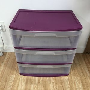 Starlite plastic storage 3 drawer bins organizer for Sale in Miami, FL