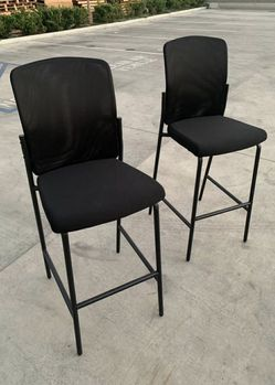 """NEW $60 for 2 pcs HON Cafe Height Office Tall Barstool Chair Bar Mesh Chair high chair barstool with backrest 32"""" tall seat height for Sale in Whittier,  CA"""