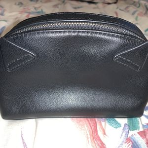 Wild Fable Black Faux Leather Cat Ears Double Zipper Cosmetic Bag ~7 Inches for Sale in Clifton, VA