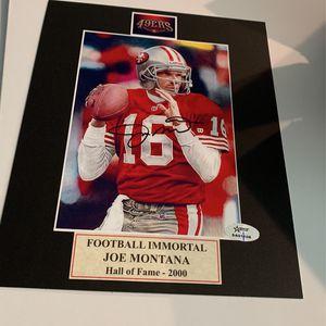 Joe Montana Autographed 49ers for Sale in Boca Raton, FL