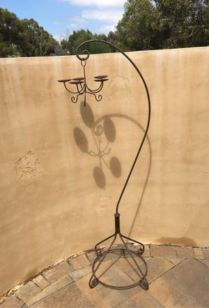 Wrought iron 5 plate candle holder , 6 feet tall for Sale in Spring Valley, CA