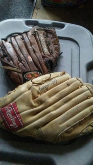 2 baseball gloves AR softball for Sale in Indianapolis, IN