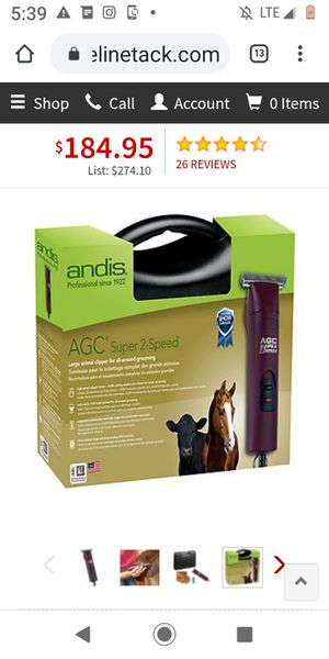 Brand New andis livestock clippers grooming set for Sale in Clanton, AL