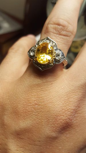 925 Italy cocktail silver ring ⭐️⭐️⭐️⭐️⭐️CITRINE(size 6) shipping only nationwide ✈️✈️✈️ CHECK MORE ITEMS ON MY LISTING ❤️❤️ for Sale in Nashville, TN