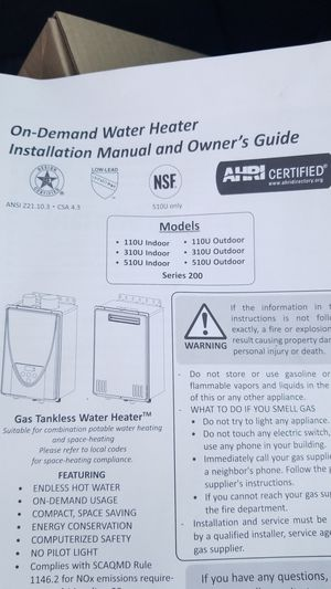 Gas water heater controller for Sale in Orlando, FL