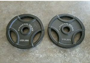 "2 -25lb Olympic weight plates (50lbs total) brand new. Works for Olympic 2"" inch barbell and curl bars. Great for exercise lifting fitness workouts l for Sale in Edgewood, WA"