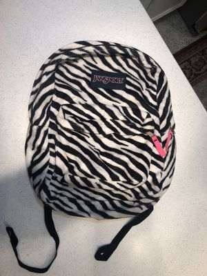 Zebra print Jansport Backpack ~ Great Condition for Sale in Maitland, FL