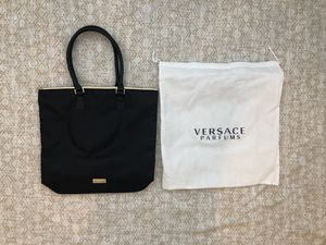 NEW Versace parfums large black tote bag purse for Sale in La Habra, CA