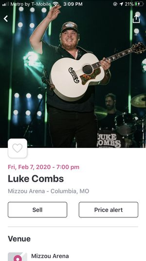 Luke combs concert tickets for Sale in Columbia, MO