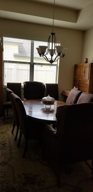 Drexel Solid Wood Dining Table with 8 Chairs for Sale in Wesley Chapel, FL