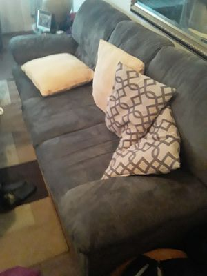 Couch and love seat good condition need it gone asap ordered a white leather set must pick up from douglasville ga $125 for Sale in Douglasville, GA