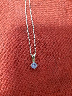 14k gold amethyst solitaire and 10k necklace for Sale in Lynnwood, WA