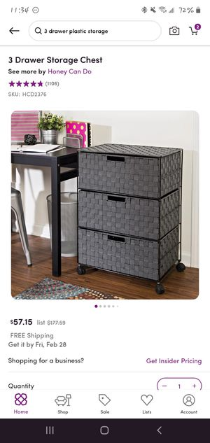 3 drawer storage chest (used-like new) for Sale in Bothell, WA