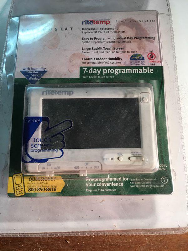 RiteTemp Universal Thermostat 7-day Programmable