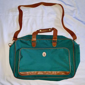 Vintage Ralph Lauren Polo Classic Canvas Green Strap Duffle Bag Travel Luggage for Sale in San Leandro, CA