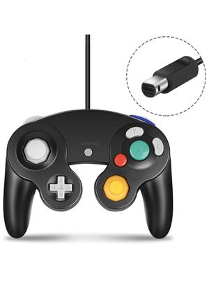 Gamecube Controller Compatible with Nintendo Gamecube and Wii U Classic Wired Controller NGC Gamepad Joystick Black for Sale in Ontario, CA