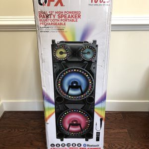 "QFX 12"" Trie Wireless Stereo DJ Speaker with Surround Lights for Sale in Hyattsville, MD"