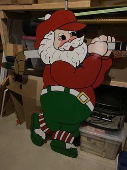 Golfing Santa yard decoration for Sale in Waterford,  VA