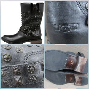UGG BLACK CONOR STUDS LEATHER for Sale, used for sale  Ridley Park, PA