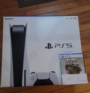 Ps5 disc edition + Call of Duty Cold War for Sale in Chesapeake, VA