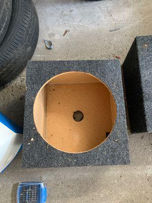 2 12inch sub closed boxes for Sale in Bridgeville, PA