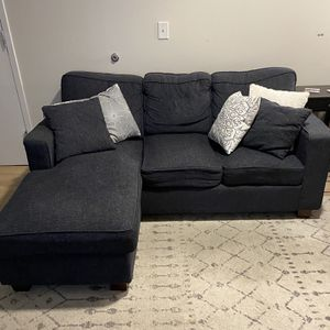 Lightly Used Sofa - Navy Blue w/ 8 Throw Pillows for Sale in Philadelphia, PA