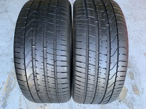 Two 285/40/22 Pirelli P-Zero like new with 90-100% left amazing pair Mercedes GLE AMG 43,63 AMG for Sale in Hialeah, FL