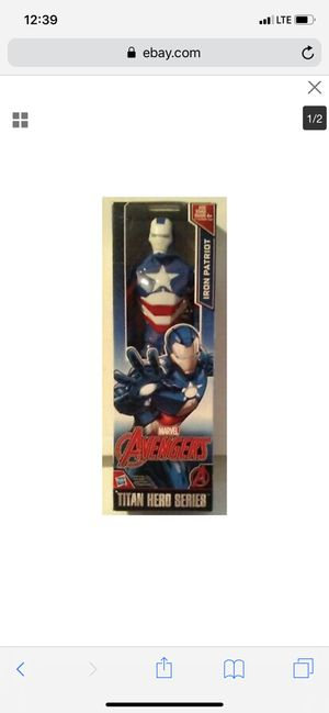 Marvel iron patriot man toy action figure collectible for Sale in Ontario, CA