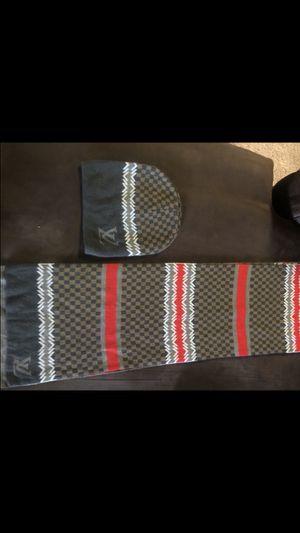 Louis Vuitton scarf and hat!! for Sale in Culver City, CA