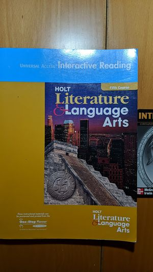 Language Arts Holt Literature Textbook with Companion for Sale in City of Industry, CA