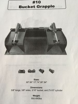 """New 74""""Extreme Duty Grapple Bucket for Skid Steer Loader $2195 . for Sale in Fort Worth, TX"""