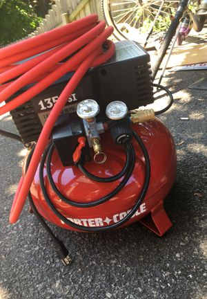 Porter cable 135 psi 6 gallon 4hp pancake compressor NEW for Sale in Reading, MA