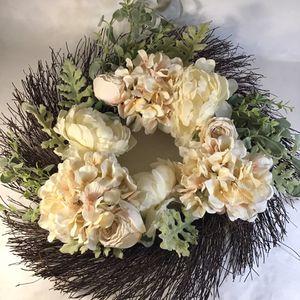 Beautiful fake flower wreaths for Sale in Spokane, WA