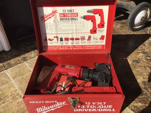 Milwaukee 12 volt Hi Torque driver drill for Sale in Des Moines, IA