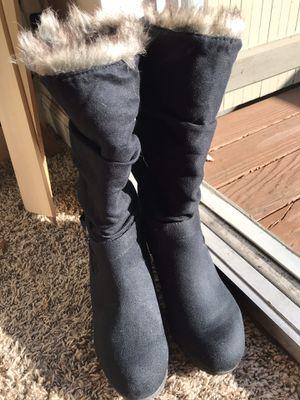 Black velvet boots for Sale in Sunnyvale, CA