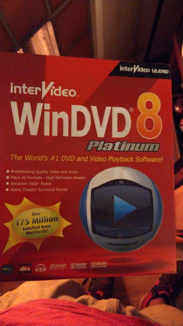 Brand new unopened win dvd 8 platinum from intetvideo